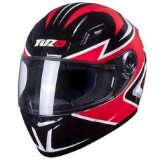 Tuzo Ghost Full Face Helmet Black and Red