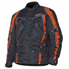 Tuzo Maxico Motorcycle Jacket Black And Orange