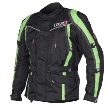 Tuzo Maxico Motorcycle Jacket Black And Green
