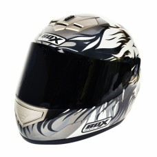 Lion Full Face Motorcycle Crash Helmet Black