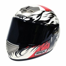 Lion Full Face Motorcycle Crash Helmet Red