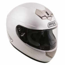 Full Face Motorcycle Crash Helmet Silver