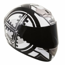 Scope Full Face Motorcycle Crash Helmet Black