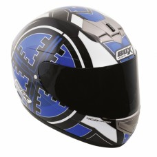 Scope Full Face Motorcycle Crash Helmet Blue