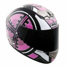 Scope Full Face Motorcycle Crash Helmet Pink