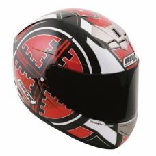 Scope Full Face Motorcycle Crash Helmet Red