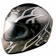 Web Full Face Motorcycle Crash Helmet Black