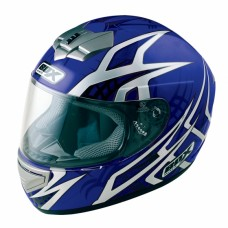 Web Full Face Motorcycle Crash Helmet Blue