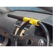 Car Baseball Bat Steering  Wheel Lock - Yellow /Black