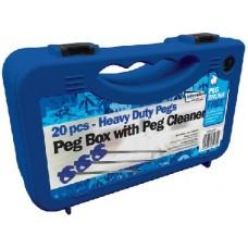 Brush Box  25pcs plastic peg  set