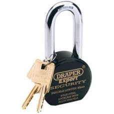 Draper Expert 63mm Heavy Duty Stainless Steel Padlock and 2 Keys