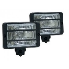 Pair of 12v 5.5in -  Clear Halogen Driving Lamps