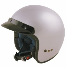 Opened Face Motorcycle/Scooter Crash Helmet Silver