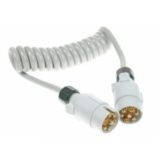 Conversion Lead Curly 1.5M 12S 2 x 7 Pin Plugs