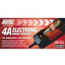 4 Amp 6/12 Volt Electronic Smart Battery Charger