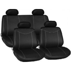 Grey Racing Style Full Seat Cover Set