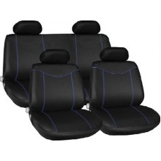 Blue Racing Style Full Seat Cover Set