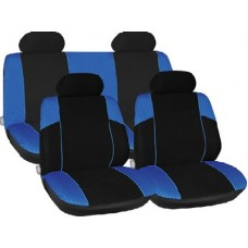 Racing Style Full Seat Cover Set in Blue