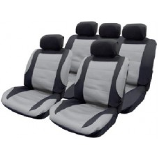 Seat covers 11pce Mesh With 5 Headrest & covers