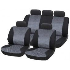 Grey/Black Jacquard Material Seat Cover Set