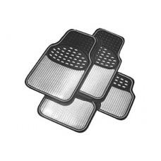 Car Floor Mat Sets - Revelation Style - Silver