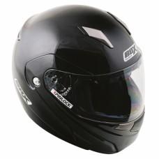 Flip Front Motorcyle Crash Helmet Black