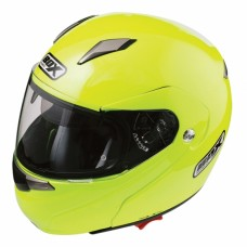 Flip Front Motorcycle Crash Helmet Yellow