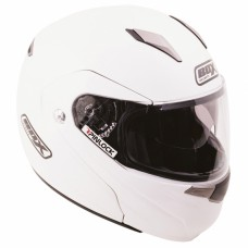 Flip Front Motorcycle Crash Helmet White