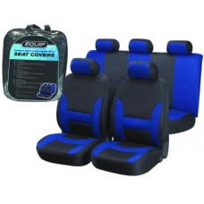 Blue & Black Sports Seat Cover Set
