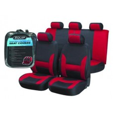 Red & Black Sports Seat Cover Set