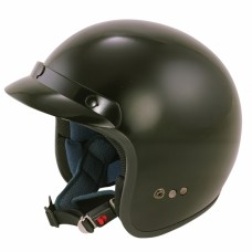 Opened Face Motorcycle/Scooter Crash Helmet Black