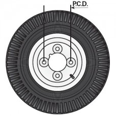 "400x8"" Trailer Wheel with 4ply Tyre"