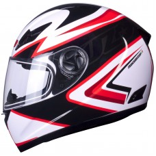 Tuzo Ghost Full Face Helmet Red