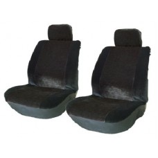 Front Pair Alpha Black Seat Covers