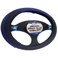 Black/Blue  Steering Wheel Glove